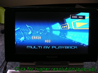 Panasonic DVD-LS82 H03 Error